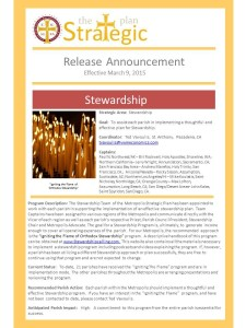 Stewardship Release Announcement 3.9.15